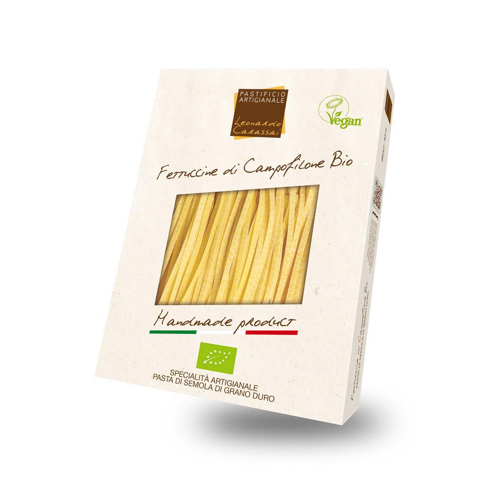 Fettuccine Bio Vegan con topinambur e crema di asparagi