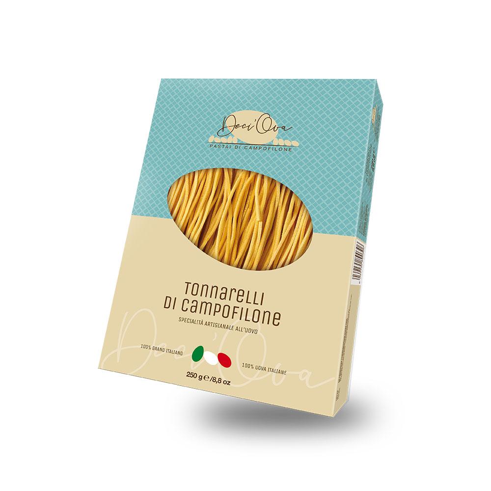 Tonnarelli di Campofilone, uova e fegatini