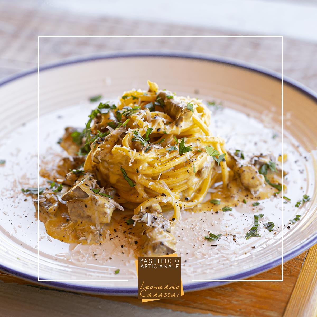 La ricetta con Tonnarelli di Campofilone uova e fegatini