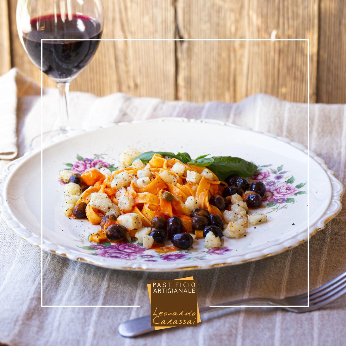 La ricetta con Tagliatelle di Campofilone e stoccafisso